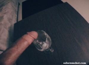Cumming in a wine glass