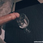 Cum in wine glass