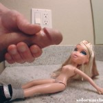 Cumshot on doll