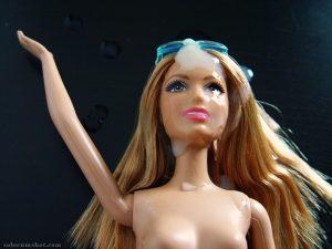 Barbie doll cumshot