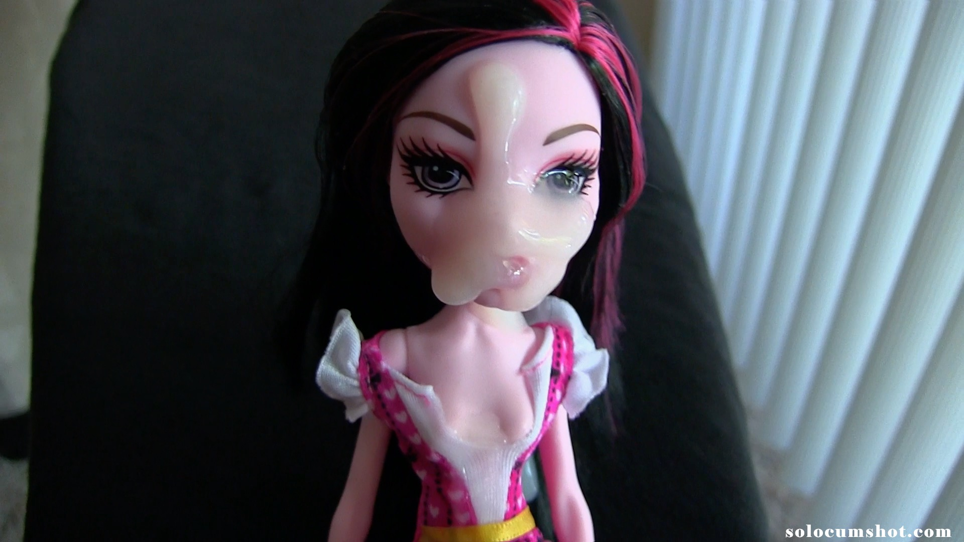 Cum on Monster High doll