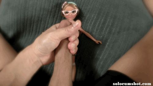 Male masturbation with dolls