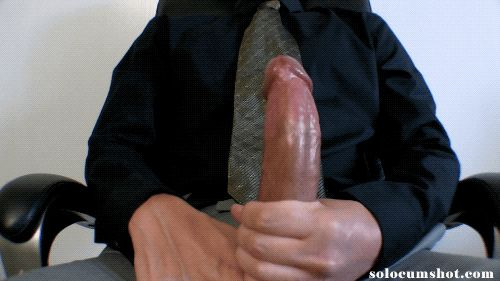 Huge cumshot on my shirt and tie