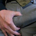Big cock bulge in dress pants