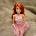 Sexy Redhead Barbie kneeling