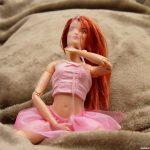 Cum covered Barbie