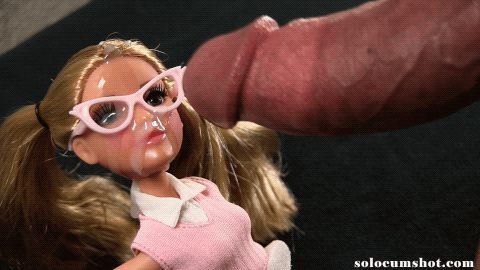 Multiple cumshots on doll