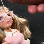Semen on doll