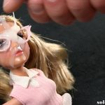Doll facial cumshot