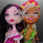 Huge load on 2 dolls