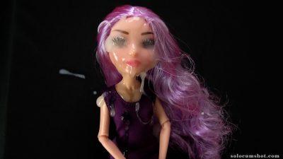 Bukkake doll facial