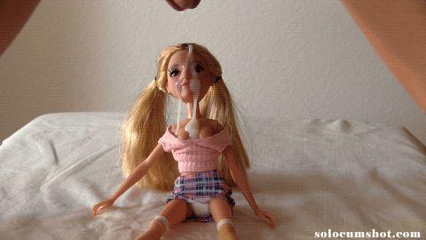 Big load of jizz on doll