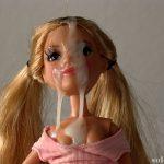 Doll facial cumshot