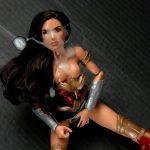 Semen on figure Wonder Woman