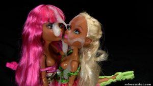 Thick cumshot on dolls