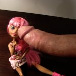 Monster cock masturbating with doll