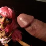 Jacking off to doll