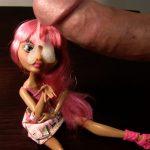 Cumming on doll