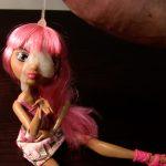 Cum on pink hair doll