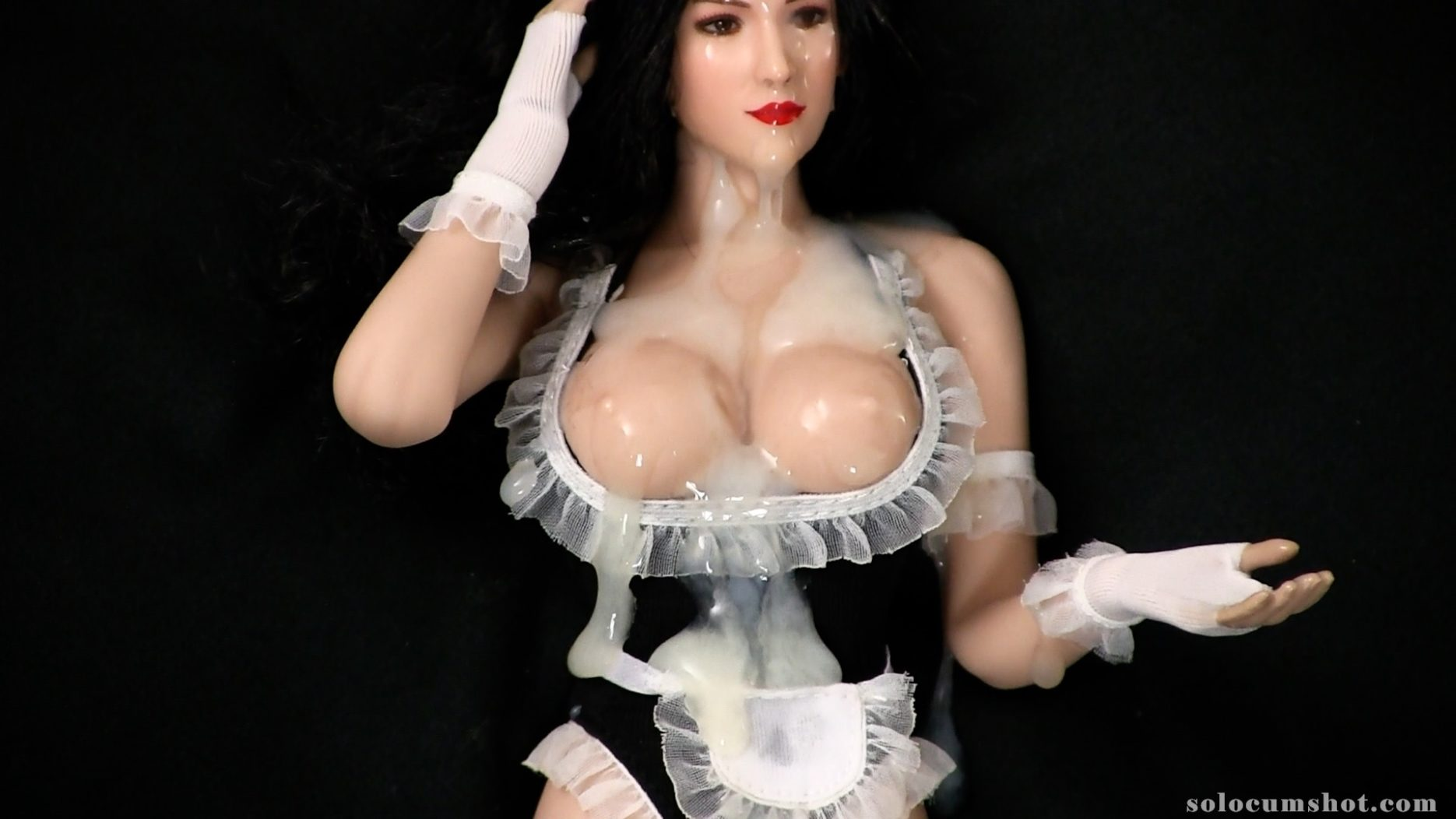 French maid doll bukkake